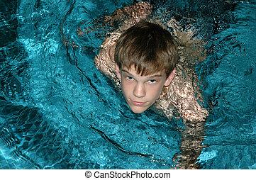 Teen schwimmer