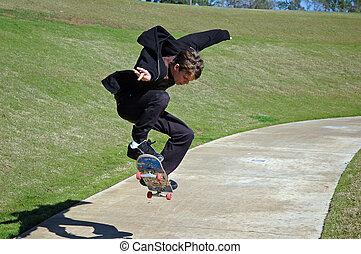 Teen Skater Schatten.
