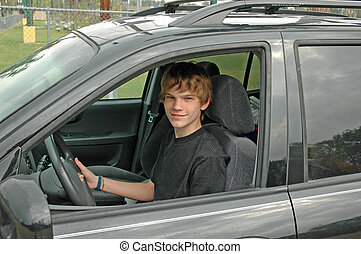 Teen SUV-Fahrer