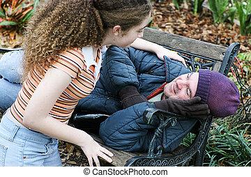 Teen unterstützt Obdachlose