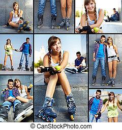 Teens at leisure