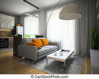 Teil der modernen Wohnung