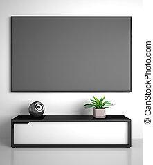 Teil des modernen Interieurs mit TV.