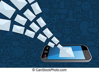 Telefon-E-Mail Marketing-Icon-Spritze