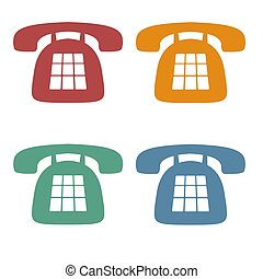 telefon, retro, heiligenbilder
