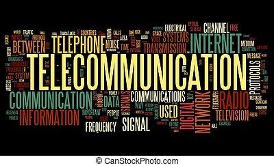 Telekommunikation in Wort-Tag-Wolke
