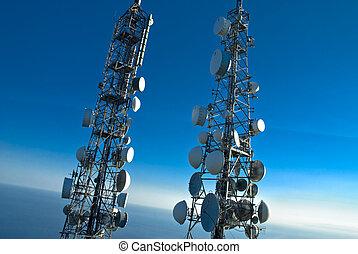 Telekommunikationstürme.