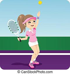 Tennis-Frau