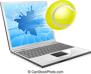 Tennis-Laptop-Konzept
