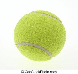 Tennisball auf weiß