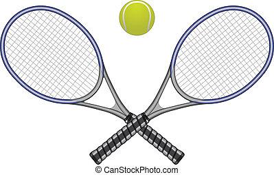 Tennisball und Schläger