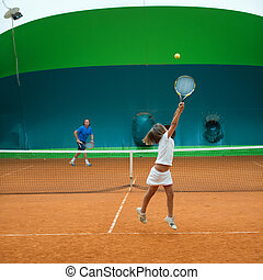Tennisschule.