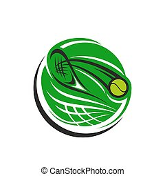 Tennisspiel-Vektor-Icon