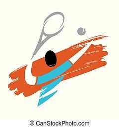 Tennisspieler-Ikone.