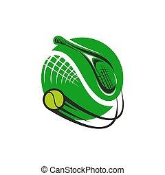 Tennissport-Spiel Green Icon.