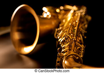 Tenor sax gold saxophon makro selektiver Fokus