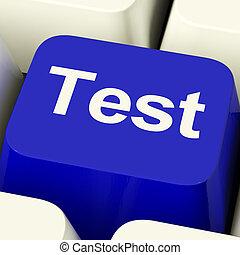 Test-Computer-Schlüssel in Blue-Show-Quiz oder Online-Fragenaire