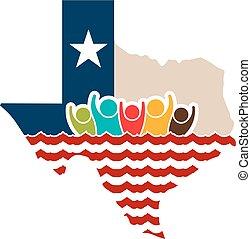 Texas Leute starke Logo Illustration.