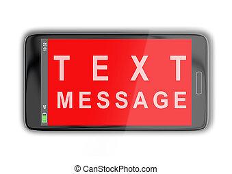 TEXT MESSAGE Konzept.