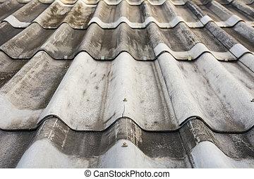 Textur von grauem Dachboden.