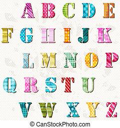 Texturiertes Alphabet