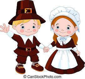 Thanksgiving-Pilgerpaar