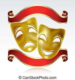 Theatralische Masken