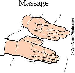 Therapeutische manuelle Massage. Medizinische Therapie