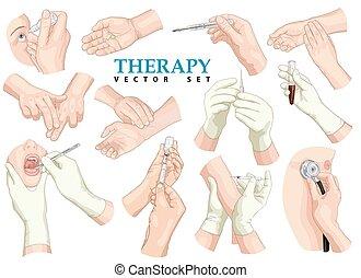 Therapie. Vector Set.