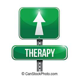 Therapy Road-Schild Illustration