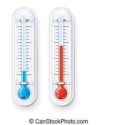 Thermometer messen Hitze und Kälte