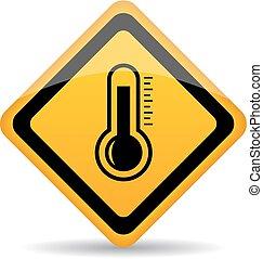 Thermometer-Vektorzeichen.