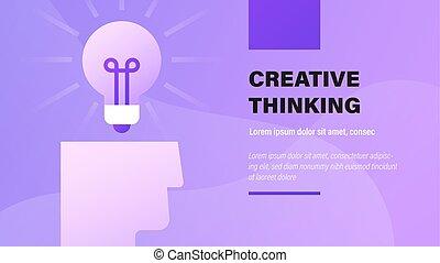 thinking., kreativ