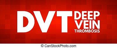 thrombosis, dvt, akronym, vene, tief, -
