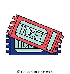 Ticket des Zugriffs isoliert Icon.