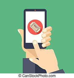 Tickets App auf Smartphone-Bildschirm