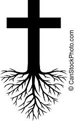 Tief verwurzeltes Kreuz