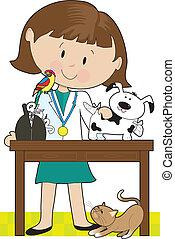 Tierärztin und Haustiere