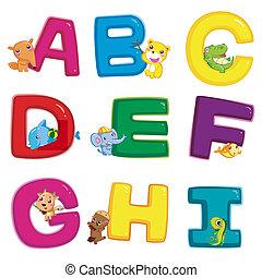 Tier alphabetisch sortiert