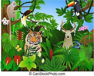 Tier im Dschungel