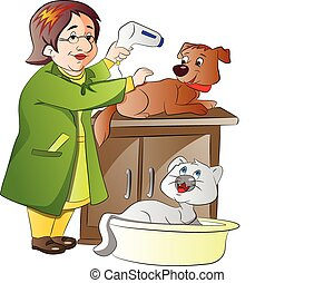 Tierarzt, Illustration.