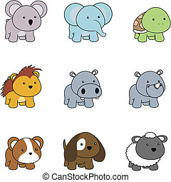 Tierbaby-Zeichen-Zeichen