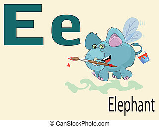 Tierbuchstaben E