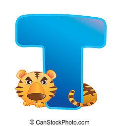 Tierbuchstaben T