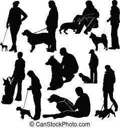 tiere, ausstellung, textanzeige, hunden