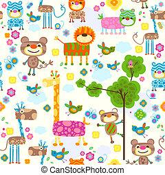 Tiere im Hintergrund