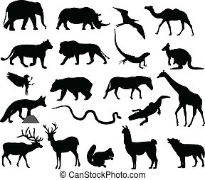 Tiere Silhouetten.