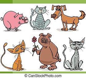Tiere zeichnen Zeichentrickfilme.
