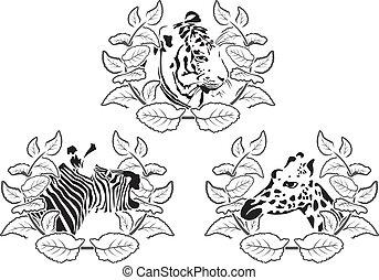 Tiergestütztes Set - Illustration