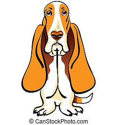 Tierhund-Basset-Haufenzucht